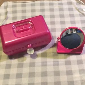 Caboodles makeup case w/ double side mirror GUC